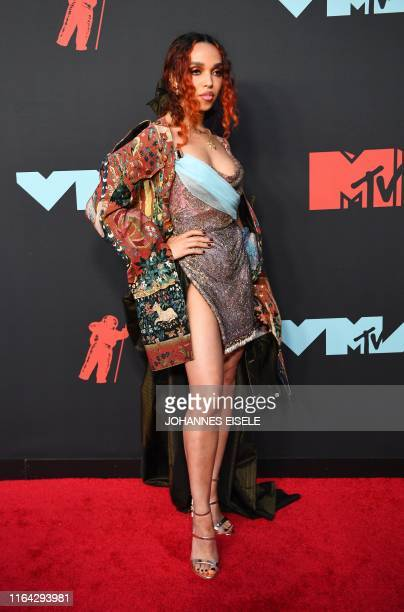 English singersongwriter FKA twigs arrives for the 2019 MTV Video Music Awards at the Prudential Center in Newark New Jersey on August 26 2019