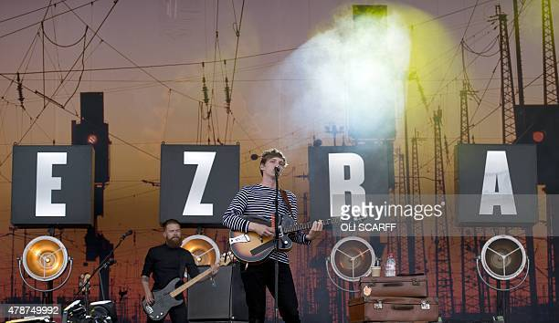 English singersongwriter George Ezra performs on the Pyramid Stage on the second day of the Glastonbury Festival of Music and Performing Arts on...