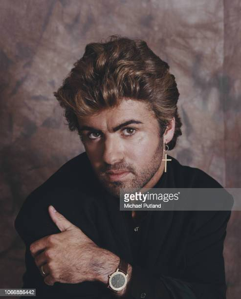 English singer-songwriter George Michael , ex-singer with pop group Wham!, posed in London, 2nd April 1987.