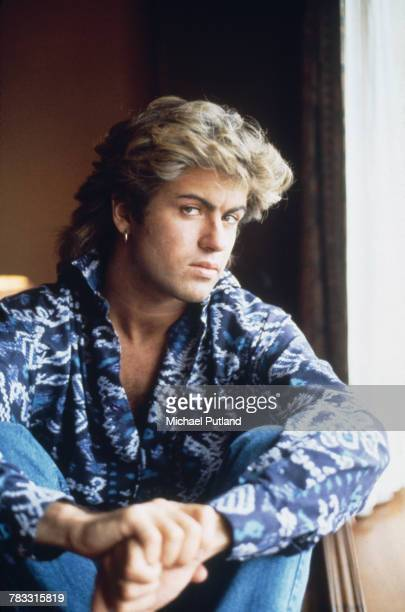 English singer-songwriter George Michael of Wham!, posed in a hotel room in Sydney, Australia during the pop duo's 1985 world tour in January 1985....