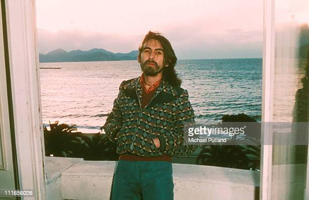 English singer-songwriter, guitarist and former Beatle, George Harrison , Cannes, France, 30th January 1976. Harrison is in Cannes for the Midem...
