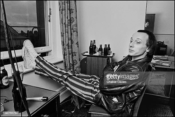 English singersongwriter Howard Devoto of postpunk group Magazine and formerly of Buzzcocks at his home in Manchester 1978