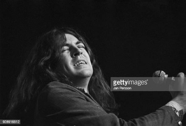 English singersongwriter Ian Gillian of Deep Purple performing at KBHallen Copenhagen Denmark March 1972