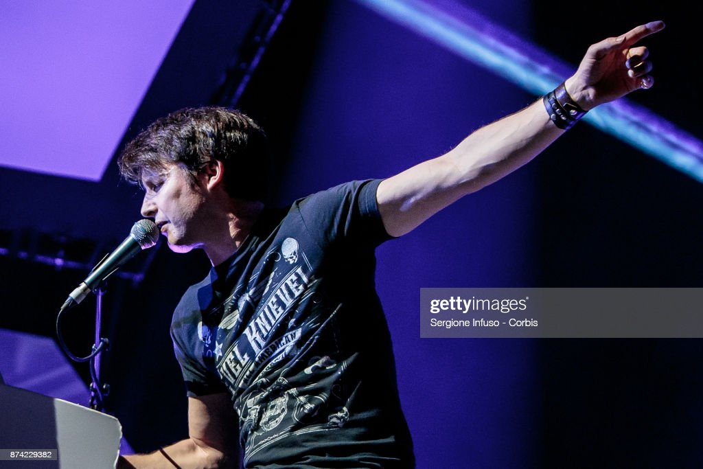 English singer-songwriter James Blunt, born James Hillier Blount, performs on stage on November 14, 2017 in Milan, Italy.