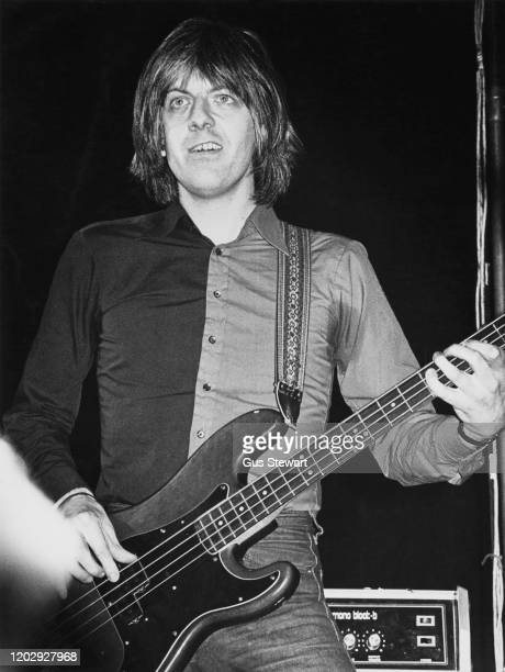 English singer-songwriter, musician and producer Nick Lowe performing on stage, circa 1978.