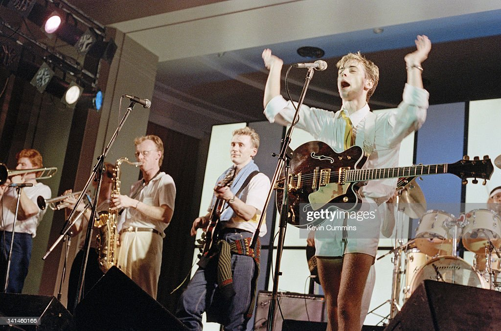 English Singer Songwriter Nick Heyward Performing With Haircut One