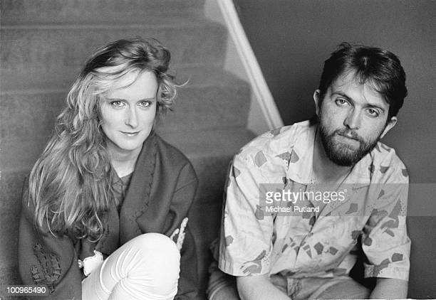English singersongwriter Paddy McAloon and singerguitarist Wendy Smith of English pop group Prefab Sprout 1985