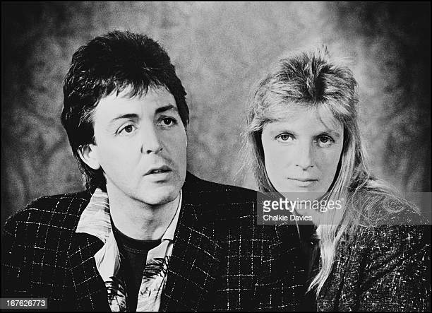 English singersongwriter Paul McCartney with his wife Linda Liverpool 1979