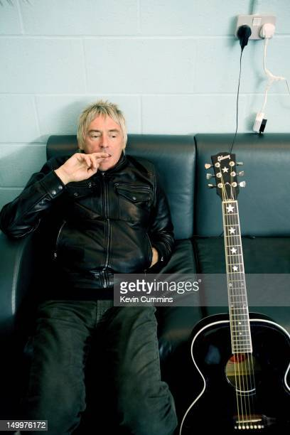 English singer-songwriter Paul Weller backstage at the Versus Cancer charity concert at the Manchester Evening News Arena, 30th March 2007.