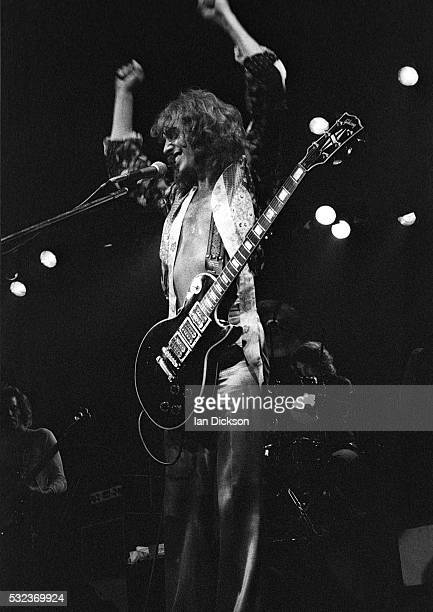 English singersongwriter Peter Frampton performing at Wembley Empire Pool London on his 'Frampton Comes Alive' tour October 1976