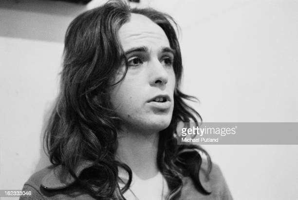 English singersongwriter Peter Gabriel of rock group Genesis backstage at Newcastle City Hall 1st October 1972