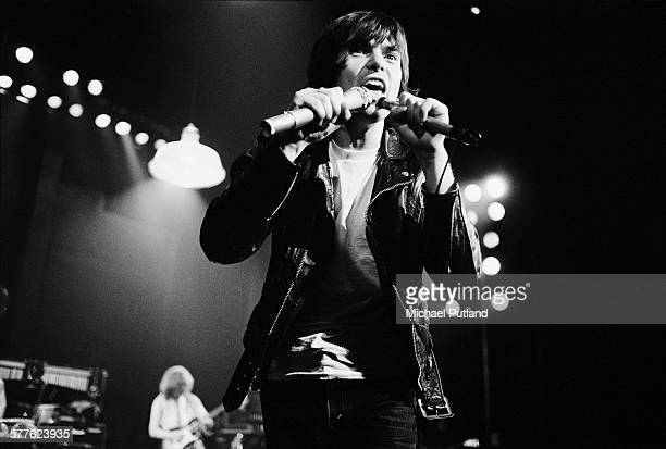 English singersongwriter Peter Gabriel performing at the Bottom Line club New York City 21st March 1977