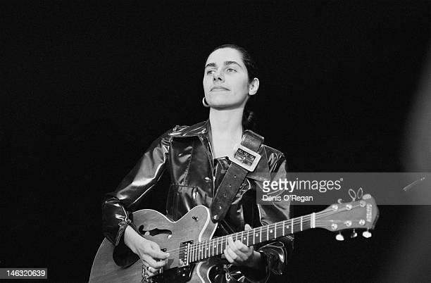 English singersongwriter PJ Harvey performing at the Reading Festival 28th August 1992