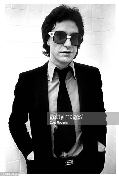 English singersongwriter Ray Davies of The Kinks backstage at a concert at Bergen Community College in Paramus New Jersey USA 11th March 1979