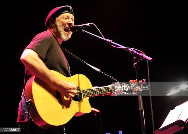 English singersongwriter Richard Thompson performs on stage as part of Meltdown 2010 at the Royal Festival Hall on June 19 2010 in London England
