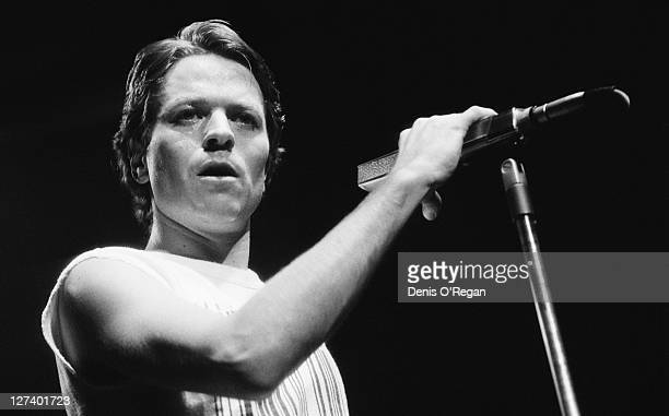 English singersongwriter Robert Palmer performing at the Dominion Theatre London 1980