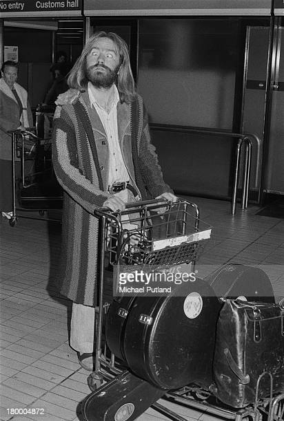 English singersongwriter Roy Harper arriving at London Airport after a the first leg of a US tour with Led Zeppelin 5th June 1973