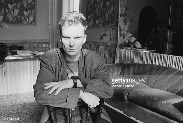 English singer-songwriter Sting, during at the start of his first solo tour, New York City, February 1985.