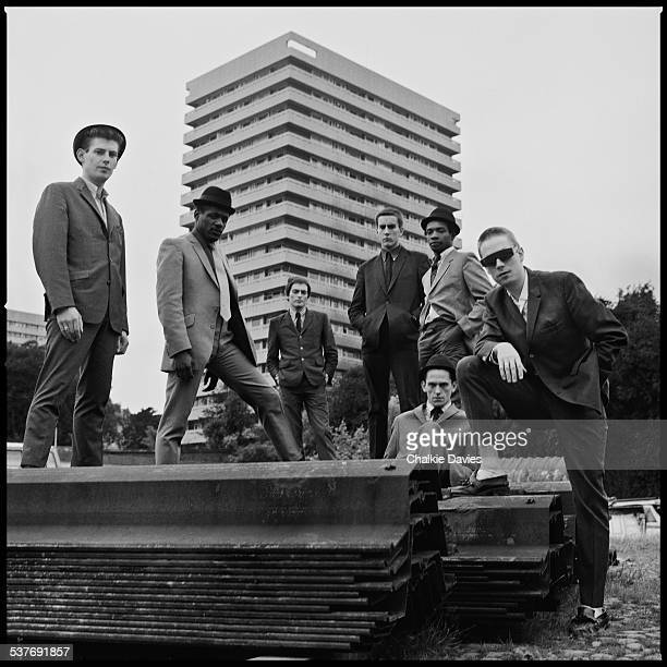 English ska revival band The Specials photographed in Coventry for the cover of their first LP in 1979 This image was not used at the time Left to...