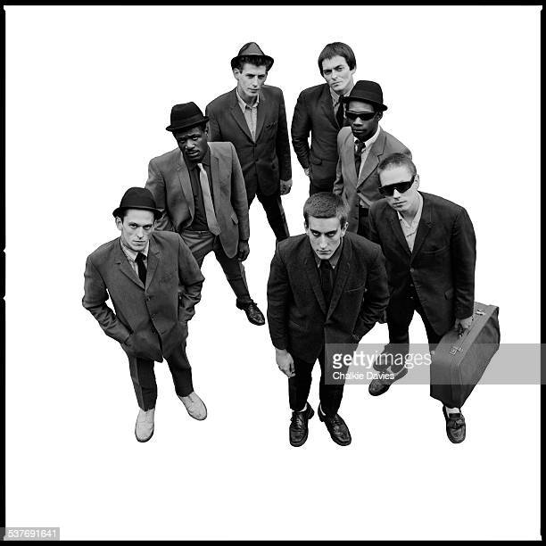 English ska revival band The Specials photographed in the Coventry Basin for the cover of their first LP 1979 This silhouetted version of the image...