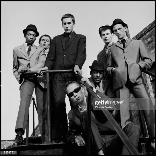 English ska revival band The Specials photographed on the roof of the Coventry Odeon 1979 Left to right Lynval Golding John Bradbury Terry Hall Jerry...