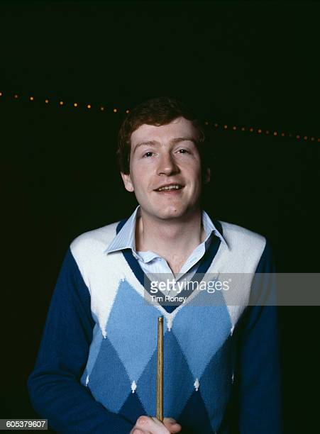 English snooker player Steve Davis at his snooker hall in Watford UK circa 1985