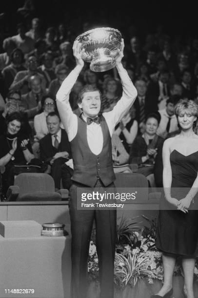 English snooker Steve Davis wins the Classic winning against Tony Meo at the Spectrum Arena, Warrington, UK, 16th January 1984.
