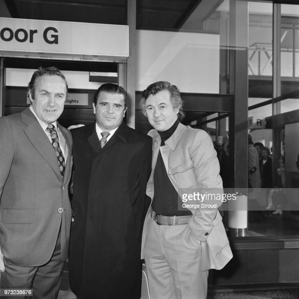English soccer player Billy Wright Hungarian soccer player and manager Ferenc Puskas and English film director screenwriter producer and actor Bryan...