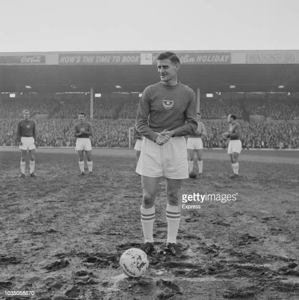 English soccer player Jimmy Dickinson of Portsmouth FC at Fratton Park stadium for a match against Charlton Athletic FC Portsmouth UK 16th November...