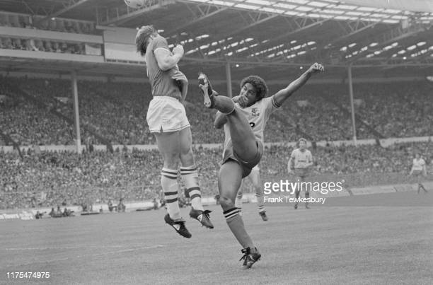 English soccer player John Barnes of Watford FC in action during the FA Cup Final match against Everton FC at Wembley Stadium London UK 19th May 1984