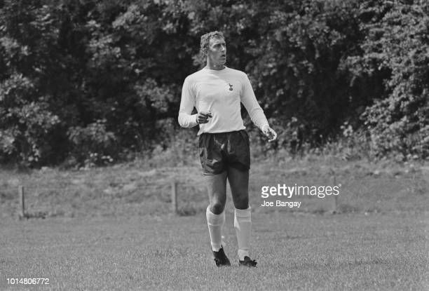 English soccer player Martin Chivers of Tottenham Hotspur during training Cheshunt UK 31st July 1969