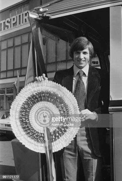 English soccer player Martin Peters of Tottenham Hotspur FC leaving for League Cup final at Wembley UK 3rd March 1973