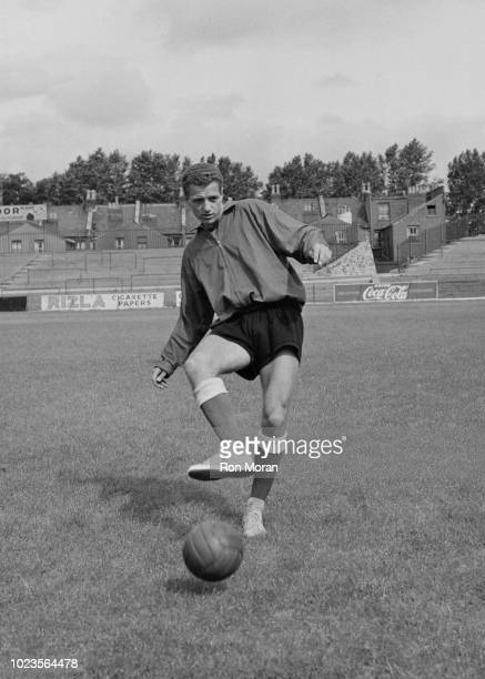 English soccer player Richard Davis of Bristol City FC during a training session, UK, 19th August 1965.