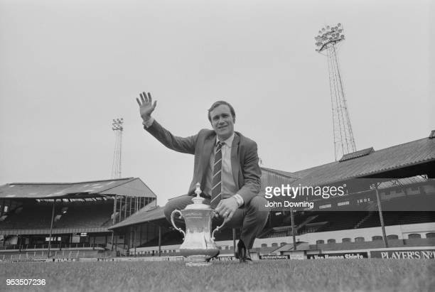English soccer player Ron Harris of Chelsea FC with the FA Cup at Stamford Bridge, London, UK, 1st May 1970.
