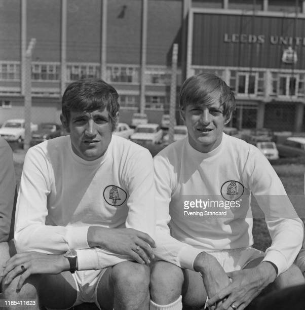 English soccer players Norman Hunter and Allan Clarke of Leeds United FC UK 21st August 1970