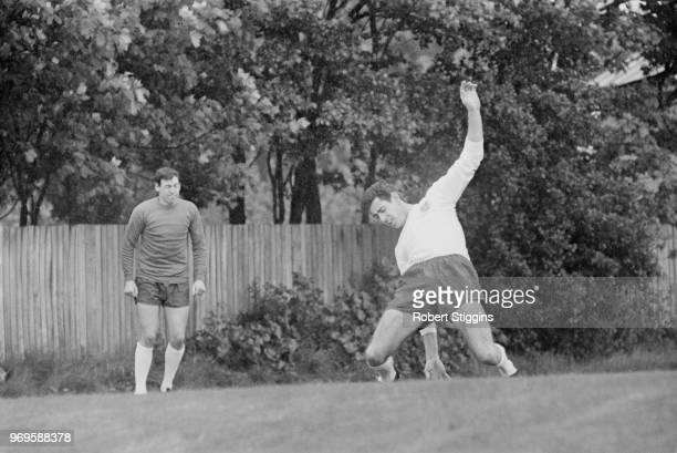 English soccer players Peter Bonetti and Gordon Banks training with the England National Football Team UK 24th May 1967