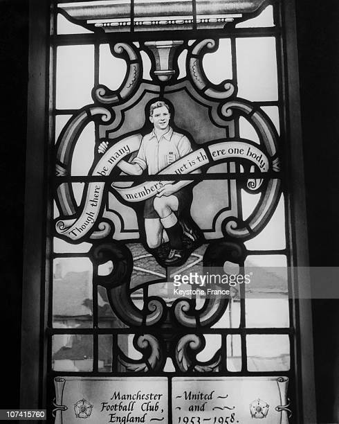English Soccer Star Duncan Edwards Honoured In Stained Glass In England On June 1961