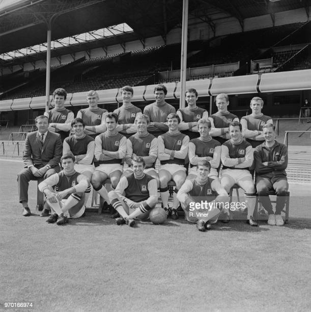 English soccer team Aston Villa FC group photo UK 1st August 1967