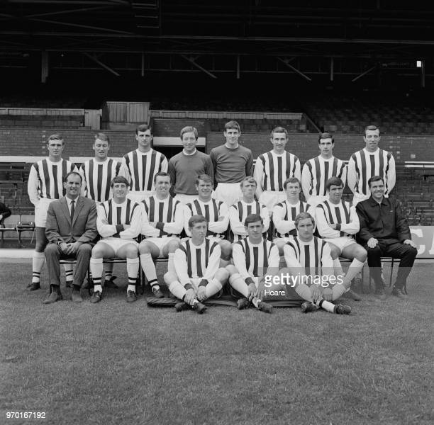 English soccer team West Bromwich Albion FC group portrait UK 2nd August 1967