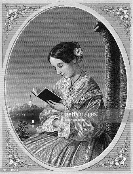 English social reformer and founder of modern nursing Florence Nightingale circa 1850