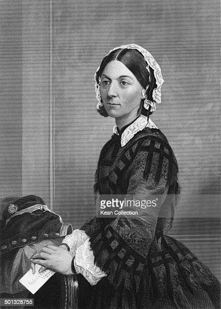 English social reformer and the founder of modern nursing Florence Nightingale circa 1865 From an original painting by Chappel