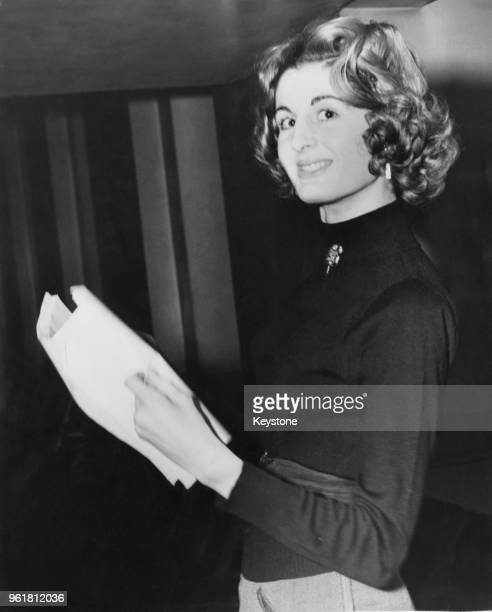 English socialite Lady Annabel VaneTempestStewart during rehearsals for Edgar Wallace's 'The Frogs' 25th February 1954 The play will be staged by...