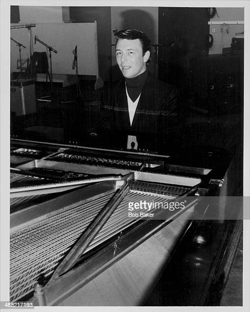 English songwriter and arranger Les Reed plays the piano at a recording studio in London circa 1968
