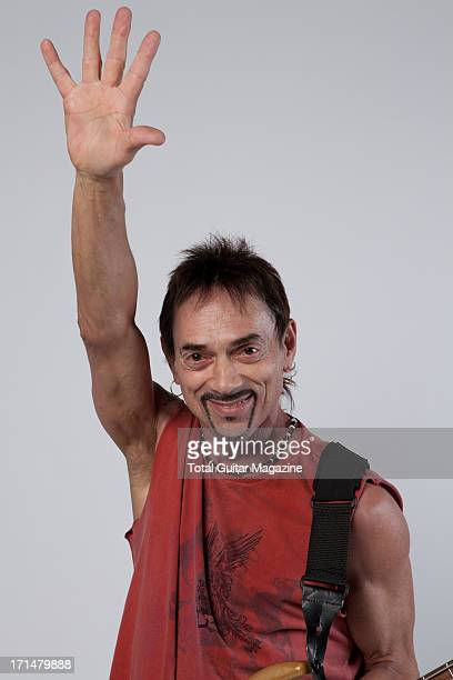 English songwriter and bassist Andy Fraser photographed during a portrait shoot backstage at the Marshall 50 Years of Loud Live anniversary concert...