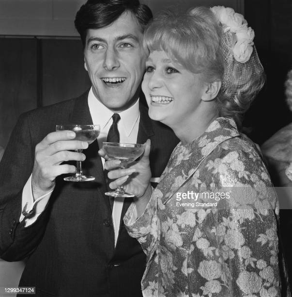English songwriter and record producer Mitch Murray marries singer and actress Grazina Frame, UK, 5th December 1966.