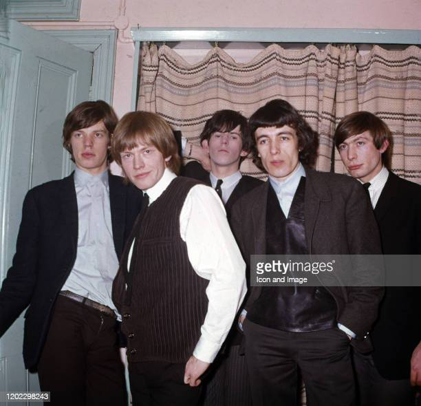 English songwriter musician and lead singer Mick Jagger English musician Brian Jones English songwriter and lead guitarist Keith Richards English...
