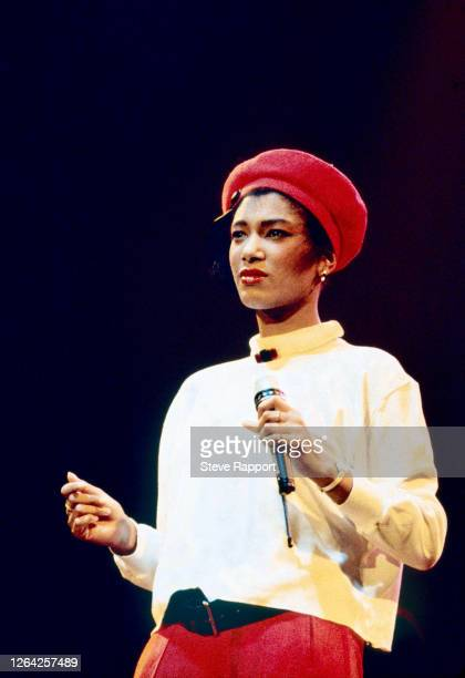 English Soul and Pop musician Dee C Lee of the group the Style Council London 1986
