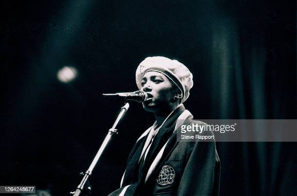 English Soul and Pop musician Dee C Lee of the group the Style Council Wembley Arena London 12/7/1985