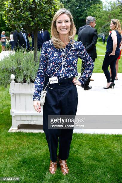 English Sport TV Host Louise Ekland attends the Neighbours' Day Cocktail at British Embassy on May 17 2017 in Paris France