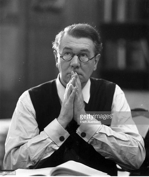 English stage and film actor Sir Michael Redgrave at Glyndebourne East Sussex 8th May 1966 He is working on a production of Jules Massenet's...